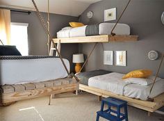 How cool are these suspended beds?