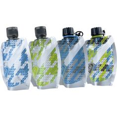 """Awesome travel """"bottle"""" set from MEC for $13! The bottles squeeze away as you use them, making room for more souvenirs on your return!"""