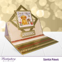 Santa Paws - Hunkydory | Hunkydory Crafts Fancy Fold Cards, Folded Cards, Fall Cards, Christmas Cards, Hunkydory Crafts, Hunky Dory, Heartfelt Creations, Christmas Inspiration, Scrapbooks