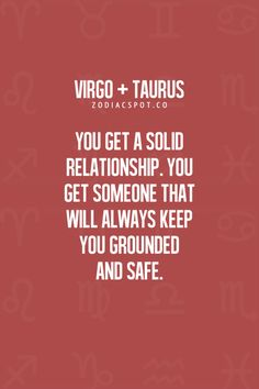 Zodiac Mind - Your source for Zodiac Facts : Photo Taurus Virgo Compatibility, Virgo And Taurus, Virgo Traits, Taurus Love, Zodiac Signs Taurus, Taurus Woman, Virgo Horoscope, Taurus Facts, Zodiac Mind