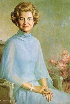 Portrait of former First Lady, Betty Ford. A cancer program in Grand Rapids, Michigan is named after the former first lady.