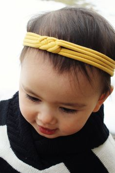 Poncho.Dean- Jersey Sailor Knot Headband- Several Color Options Baby Toddler Adult Headband. $8.50, via Etsy.