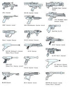 Blaster Pistols - Star Wars yet again millions Simbolos Star Wars, Star Wars Guns, Nave Star Wars, Star Wars Facts, Star Wars Ships, Images Star Wars, Star Wars Pictures, Starwars, Star Citizen