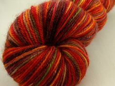 Fall-ing for Ewe - BFL Platinum Sock Yarn by turtlepurl on @Artfire