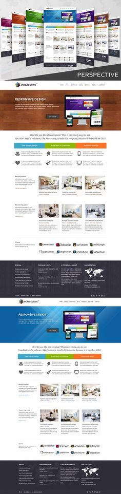Perspective - Responsive HTML5 Templ. HTML/CSS Themes. $19.00