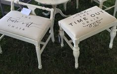 """UNIQUE ITEM - """"Time Out Chair"""" Vanity Bench"""