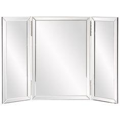 Howard Elliott Tripoli Trifold Vanity Mirror & Reviews | Wayfair