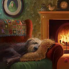 Framed Artwork, Framed Prints, Art Prints, Cute Quotes For Kids, Dog Bedroom, Good Night Image, Instagram Artist, Dog Illustration, Dog Paintings