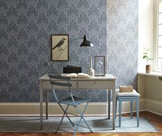Oriental Brocade Wallpaper by Borastapeter's collected memories collection. An elegant wallpaper with a large scale damask print ideal for your country house. Shop the Borastapeter collection today at F&P Interiors Decor, Country House Interior, Interior, Interior Inspiration, Home Organisation, House Interior, Home Deco, Study Decor, Modern Kitchen Design