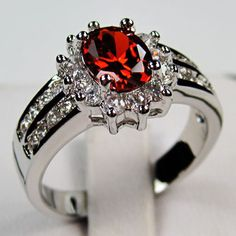 'Dazzling 10K WGF Created Ruby Ring-Size 8' is going up for auction around 10pm EST Mon, Mar 4 with a starting bid of $7.  @Tophatter