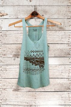 Astral Teepee  womens triblend racer back jersey tank by barkdecor, $26.00