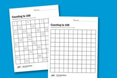 Counting to 100 and more free worksheets from PagingSupermom.com #worksheets #counting