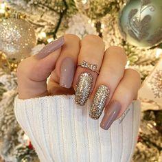 squoval nail art design inspirations ideas DIY | gel polish | glitter | nude | elegant awesome beautiful