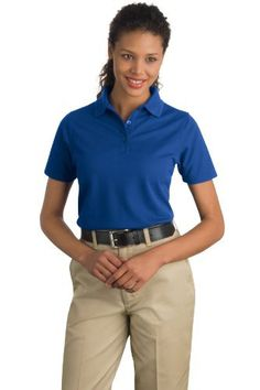 CornerStone Women's Industrial Pique Polo 3XL Royal