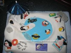 Penguin party cake