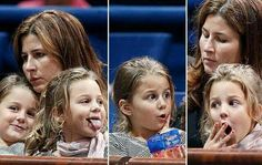 The lady's in Roger Federer's life