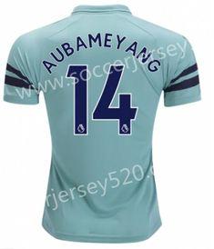 732fc8019 2018-19 Arsenal 2nd Away Green  14 (AUBAMEYANG)Thailand Soccer Jersey AAA