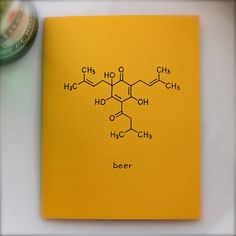 Beer Chemistry Card  Guy Card