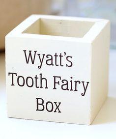 Personalized Tooth Fairy Box #zulily #zulilyfinds