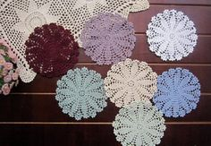 My favorite crochet doilies for decoration for weeding or home