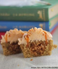 The Magic of Butterbeer-Butterbeer Cupcakes