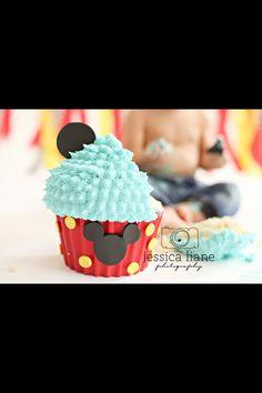 Mickey Mouse Smash Cake by Sweet Lola Cake Pops