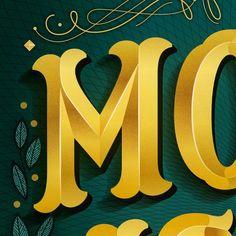 I just delivered the brightest design I've done in a long time. Literally. #gold #lettering by martinaflor