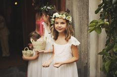 Flower girls. These look like their dresses too! So charming.
