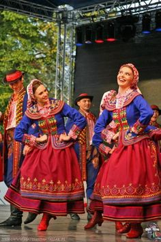 Traditional folk costumes from some part of Poland