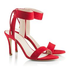 Zurbano Daisy suede sandals are crafted in Italy from very soft and resistant goat leather. They are made to be in the spotlight by its intensive, sensual red colour and delicate suede self-ties at the ankle. We're teaming ours with jeans and an oversized white blouse for an effortless , feminine results.  Goat leather Heel 9 cm Crafted in Italy Fit true to size  14-Day Right to Return