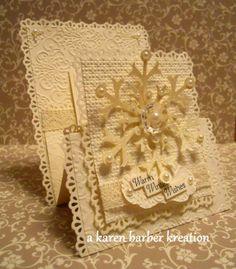 VINTAGE SNOWFLAKE CARD...   Thanks, Karen Barber!