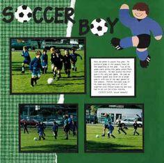 Soccer Scrapbook page idea