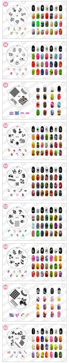 Nail Art Stamp! KayDee and I have many of these...You can get them from the N Spa in Waco via Riane Nix