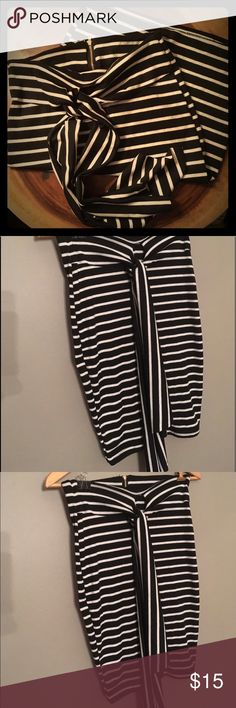 Black and white striped skirt Reposhing! Like new! A little too big on me. Fits like a true small! Skirts Pencil