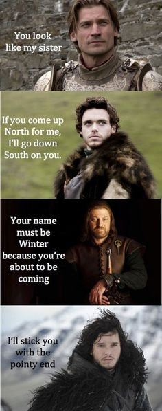 """And their pick up lines: 