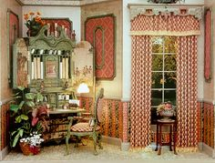 Brooke Tucker..... loooove the idea of the painted design on the inside of the armoir's doors.......