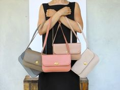 DU PELLI Scala di rosa - handmade leather bag