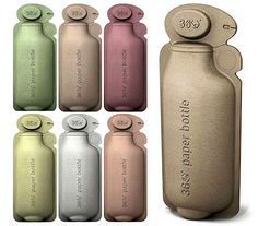 I <3 Alternative. Design company BrandImage has just come out with their line of paper water bottles made out of renewable resources.