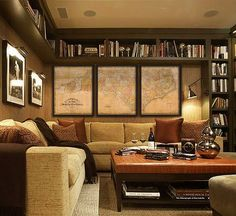 I have put forth this post that lists the top 40 home library ideas that would rock and inspire you to no limits. Some of these home library. Home Library Design, Family Room Design, Modern Library, Be Light, Basement Bedrooms, Cozy Basement, Basement Ideas, Basement Designs, Basement Finishing
