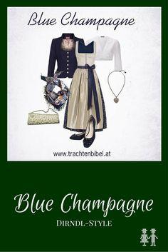 Dirndl-Style Blue Champagne mit einem Dirndl von Susanne Spatt.