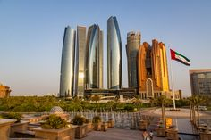 This is an unbelievable example of modern architecture, Etihad Towers, Abu Dhabi