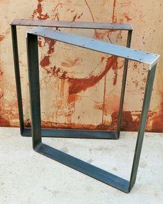 Patas metálicas de la mesa barra plana Squared