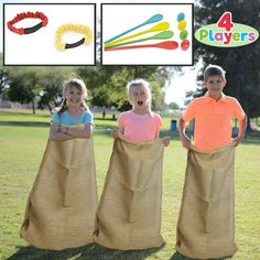 Potato Sack Race Bags, Egg and Spoon Race Games, Legged Relay Race Bands Elastic Tie Rope for All Ages Kids and Family, Outside Easter Eggs Hunt Game Party Favor Activities, Carnival Game Party Supplies. Easter Outdoor Games, Giant Outdoor Games, Outdoor Games For Kids, Outside Games For Kids, Giant Games, Relay Games For Kids, Carnival Games For Kids, Easy Kids Party Games, Kids Relay Races