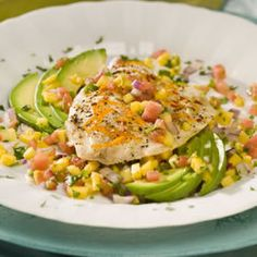 "Mango-licious Tilapia.  ""The mango salsa is great over the tilapia, as a dip or on cottage cheese. Try serving the tilapia over brown basmati rice or lightly dressed salad greens for a complete meal. Then generously top with the salsa. Mango-licious!!"""