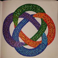"""Eels.....#adultcoloringbook #johannabasford #lostocean #mycreativeescape"""
