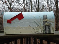 Hey, I found this really awesome Etsy listing at https://www.etsy.com/listing/184689146/hand-painted-mailbox-sand-dunes-mailbox