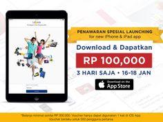 WOW, Lazada Indonesia hadir di iOS ! Yuk, download sekarang & dapatkan Voucher Rp100.000,- dengan minimal Rp300.000,- yang berlaku HANYA 3 HARI! Happy Shopping ! Download Disini -> http://lzd.co/LazadaID_iOS_App