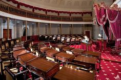 Inside the Capitol in the Old Senate Chamber.