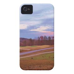 Deer on sunset golf course iPhone 4 cover