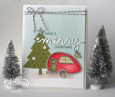 Christmas Camping -- Stampin' Up! Artisan Design Team -- made by Amy O'Neill